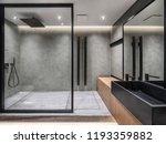 Bathroom In A Modern Style Wit...