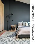 stylish modern bedroom with... | Shutterstock . vector #1193359888