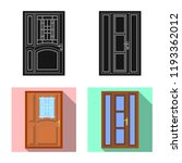 isolated object of door and... | Shutterstock .eps vector #1193362012