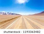 bolivian dirt road perspective... | Shutterstock . vector #1193363482