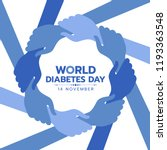 world diabetes day awareness... | Shutterstock .eps vector #1193363548