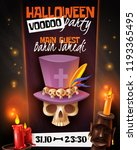 halloween voodoo party... | Shutterstock .eps vector #1193365495