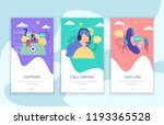 customer support set of... | Shutterstock .eps vector #1193365528