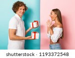 portrait of a happy young... | Shutterstock . vector #1193372548