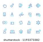 finance icon  simple line set | Shutterstock .eps vector #1193373382