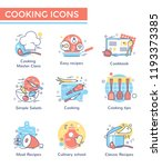 cooking class concept icons ... | Shutterstock .eps vector #1193373385