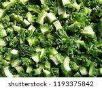 slice of bitter gourd or bitter ... | Shutterstock . vector #1193375842