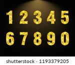 set copper numbers from 1 to 0... | Shutterstock .eps vector #1193379205