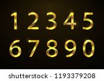 set copper numbers from 1 to 0... | Shutterstock .eps vector #1193379208