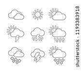 modern weather forecast icons... | Shutterstock .eps vector #1193383918
