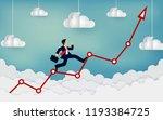 businessman running on a arrow... | Shutterstock .eps vector #1193384725