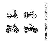 motorcycle types line icon set. ... | Shutterstock .eps vector #1193391478