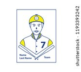 baseball card icon. thin line... | Shutterstock .eps vector #1193393242