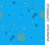 retro memphis pattern. seamless ... | Shutterstock .eps vector #1193400112