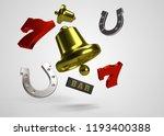 slots reel symbols 3d render | Shutterstock . vector #1193400388