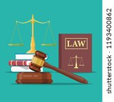 law and justice set icon ... | Shutterstock .eps vector #1193400862