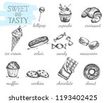 confectionery set. fresh and... | Shutterstock .eps vector #1193402425
