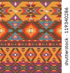 seamless colorful aztec pattern | Shutterstock .eps vector #119340286
