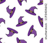 witch hat halloween seamless... | Shutterstock .eps vector #1193404642