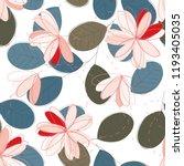 abstract flower seamless... | Shutterstock .eps vector #1193405035