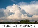 sky background with clouds and... | Shutterstock . vector #1193407285