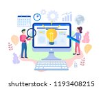 idea concept for web page ... | Shutterstock .eps vector #1193408215