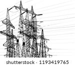 illustration with electric... | Shutterstock .eps vector #1193419765