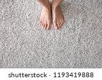 barefoot woman standing on... | Shutterstock . vector #1193419888