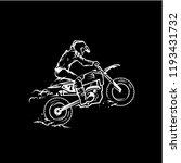 motocross racing adrenaline...   Shutterstock .eps vector #1193431732