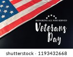 composite of veterans day flag | Shutterstock . vector #1193432668