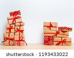 christmas gift box on tablet | Shutterstock . vector #1193433022