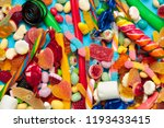 different colorful fruit candy | Shutterstock . vector #1193433415