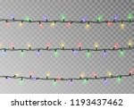 christmas lights string... | Shutterstock .eps vector #1193437462