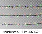 christmas color lights string.... | Shutterstock .eps vector #1193437462