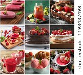 collection of delicious... | Shutterstock . vector #1193437498