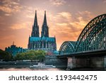 cologne cathedral and... | Shutterstock . vector #1193442475