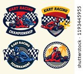 badge design set of kart racing | Shutterstock .eps vector #1193445955