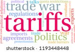 tariffs word cloud on a white... | Shutterstock .eps vector #1193448448