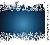 christmas border  snowflake... | Shutterstock . vector #119345146