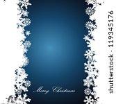 christmas border  snowflake... | Shutterstock .eps vector #119345176