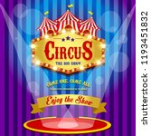 carnival banner. circus. fun... | Shutterstock . vector #1193451832