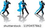 ballroom dance people | Shutterstock .eps vector #1193457862
