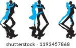 ballroom dance people | Shutterstock .eps vector #1193457868