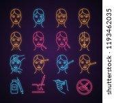 neurotoxin injection neon light ... | Shutterstock .eps vector #1193462035