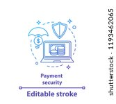 payment security concept icon.... | Shutterstock .eps vector #1193462065
