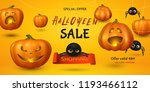 vector horizontal sale banner... | Shutterstock .eps vector #1193466112