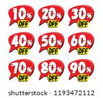 sale and discount labels. price ... | Shutterstock .eps vector #1193472112