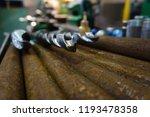 the drills lie on a rack near... | Shutterstock . vector #1193478358