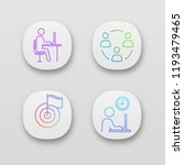 business management app icons...