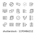 set of checkmark vector line... | Shutterstock .eps vector #1193486212
